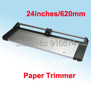 Fast Free shipping Discount Portable 24 inches 620MM  Professional Paper PVC Cutter Manual Rotary Trimmer professional cutter