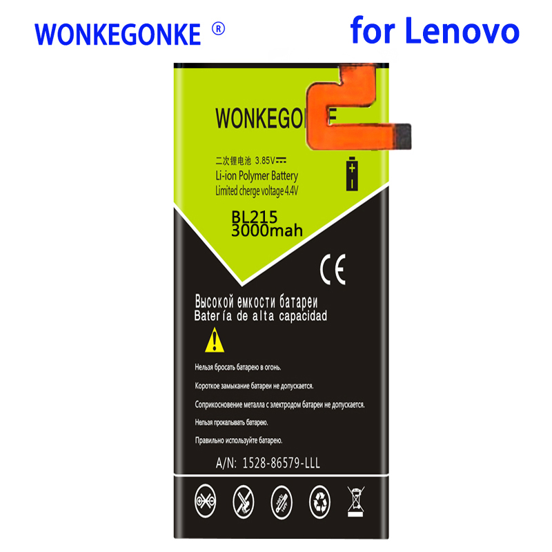 WONKEGONKE 3000mah BL 215 BL215 <font><b>Battery</b></font> for <font><b>Lenovo</b></font> VIBE X <font><b>S960</b></font> S968T <font><b>Batteries</b></font> Bateria image
