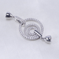 Heart Shape Buckle Connector Jewelry Findings For DIY Jewelry Necklace Bracelet Making Jewelry Accessories