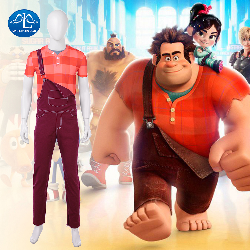 Ralph Breaks the Internet: Wreck-It Ralph 2 Cosplay Costume Men Wreck-it Ralph Costume Halloween Costumes For Adult Custom Made