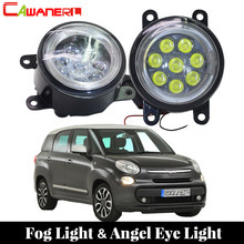 Cawanerl 2 Pieces Car Styling LED Fog Light Lamp Angel Eye Daytime Running Light DRL 12V For 2012-2015 Fiat 500 L4 1.4L(China)