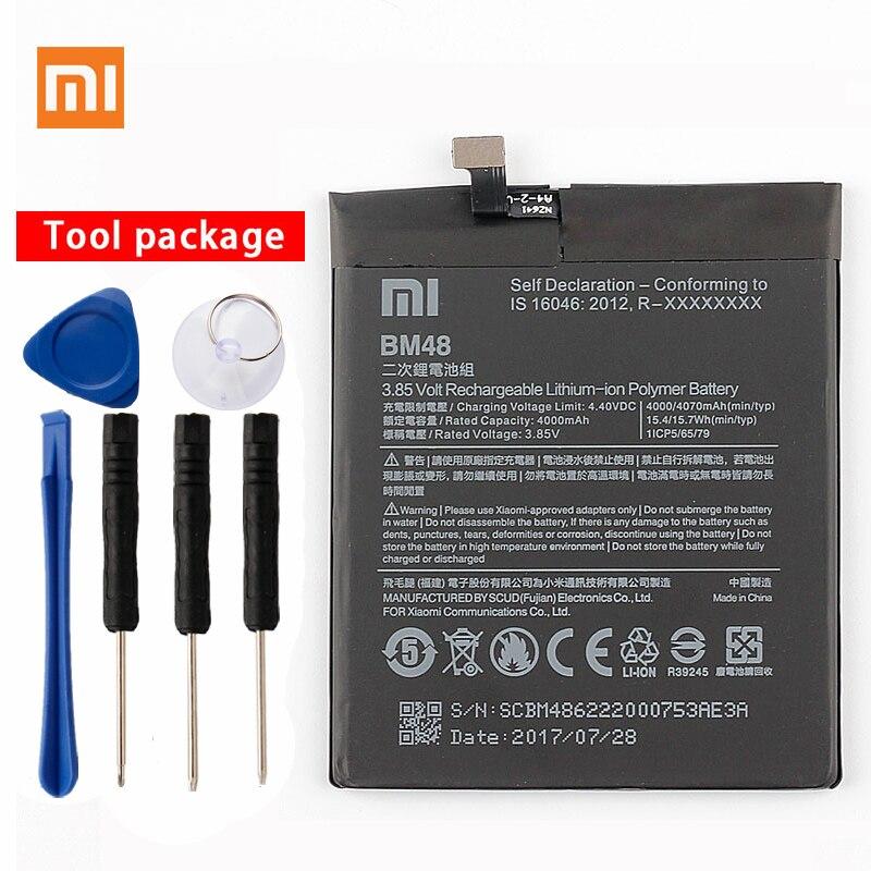 Origine Xiao mi BM48 Haute Capacité Téléphone Batterie Pour Xiao mi mi Note 2 Note2 Batteries 4070 mah