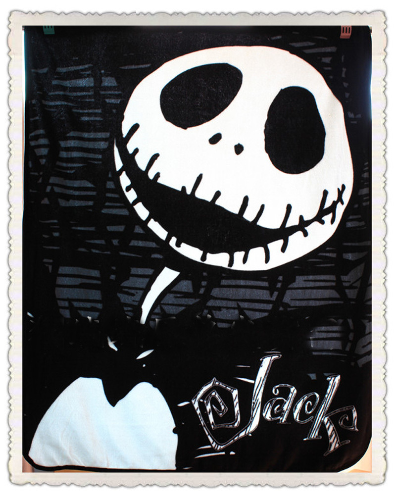 Genuine The Nightmare Before Christmas JACK Black Blankets Cartoon ...