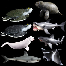 Sea turtle Simulated Solid Models Emulation Action Anime Figure Learning Educational White horse Kids Toys for Boys Children