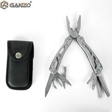 3 teil/los Ganzo Multi Zange G202 24 Werkzeug in Einem Hand Werkzeug Schraubendreher Kit Tragbare Edelstahl multitool Tasche Folding Messer zangen