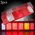 Pair 12V/24V 52 LED Trailer Truck Van Camper Rear Tail Stop Fog Indicator Light Lamp
