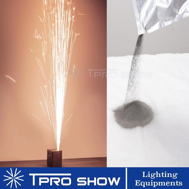Máquina de pó de titânio para casamento, pó de ignição frio de 400w 600w para máquina de pirotécnica de fogos de artifício de artifício de prata de fogos de artifício 200 g/saco