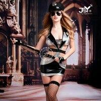 Women Sexy Police Cosplay Leather Costume Erotic Policewomen Halloween Costumes Fantasia Cosplay Fancy