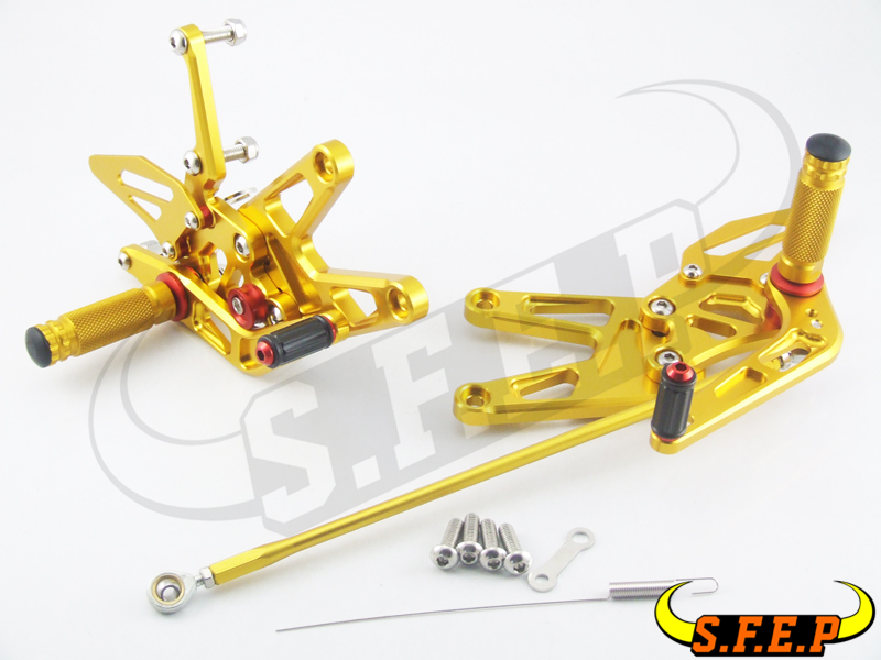 CNC Adjustable Rearsets Rear Sets foot pegs For Yamaha YZF-R6 2003-2004-2005 free shipping motorcycle parts silver cnc rearsets foot pegs rear set for yamaha yzf r6 2006 2010 2007 2008 motorcycle foot pegs