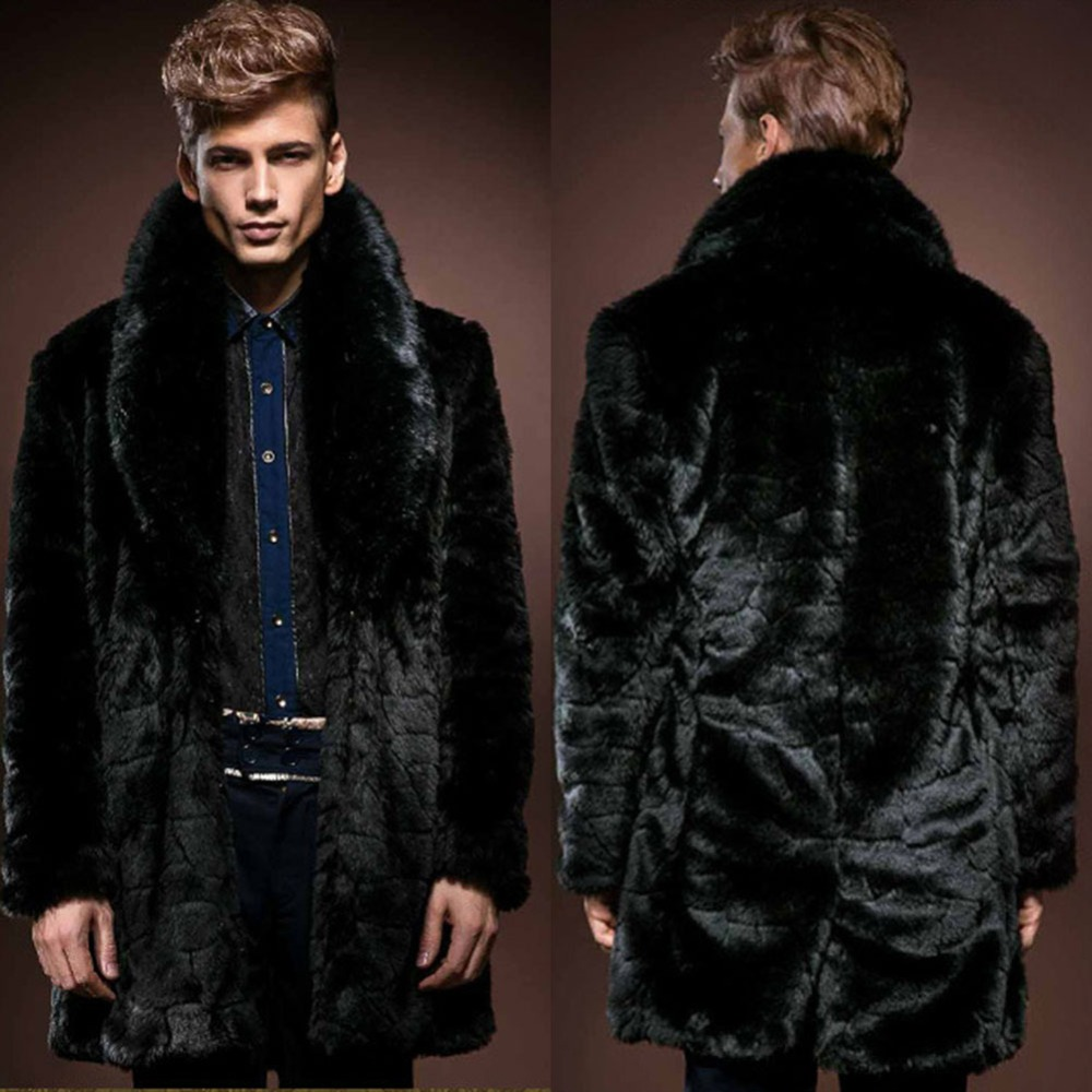 Images of Mens Faux Fur Coats - Reikian