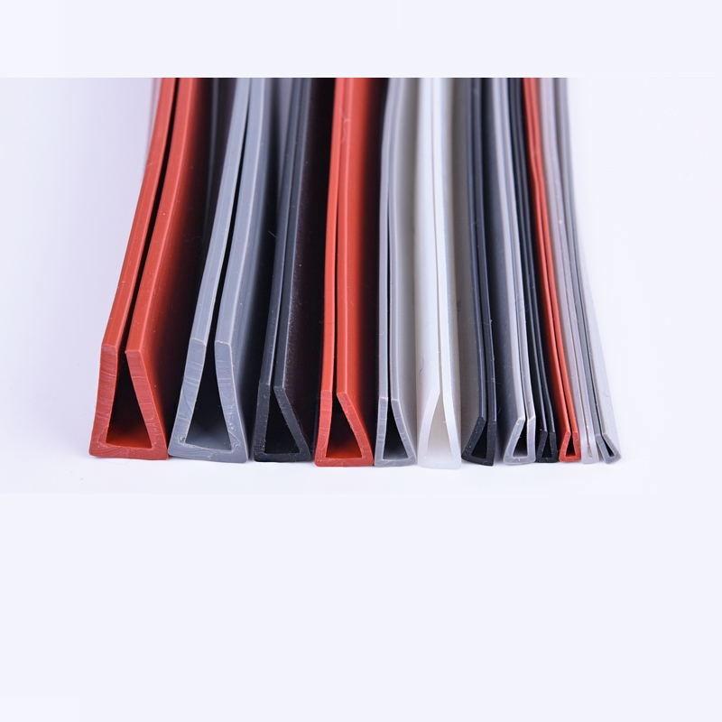 цена на Car Silicone U Strip Bound Glass Metal Wood Panel Edge Encloser Shield 1 1.5 2 3 4 5 6 7 8 9mm x 1m Translucent Red Gray Black