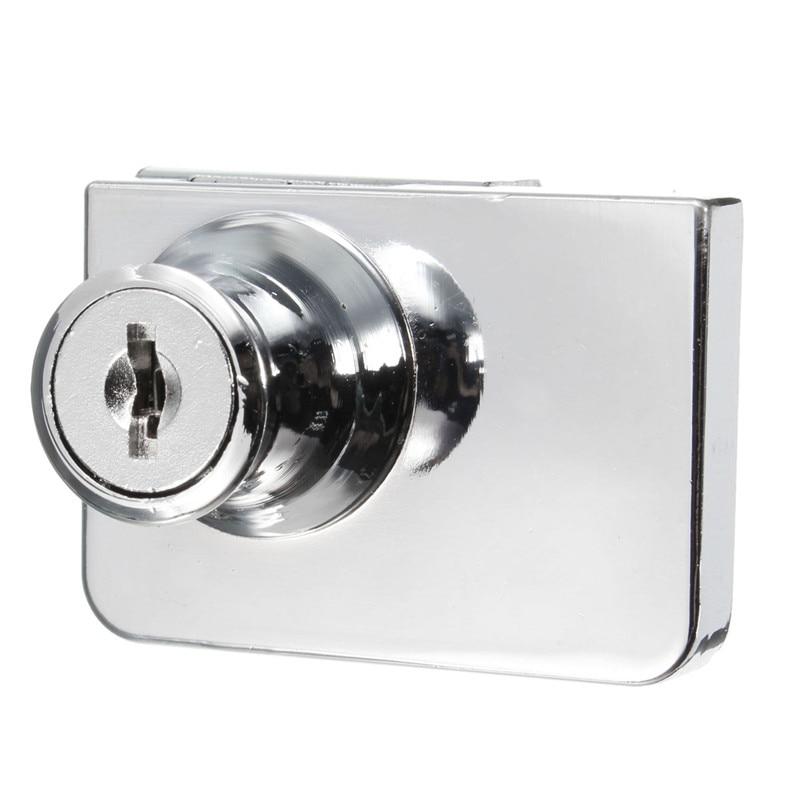1 Set Double Glass Cabinet Door Lock Cam Key Showcase Display ...