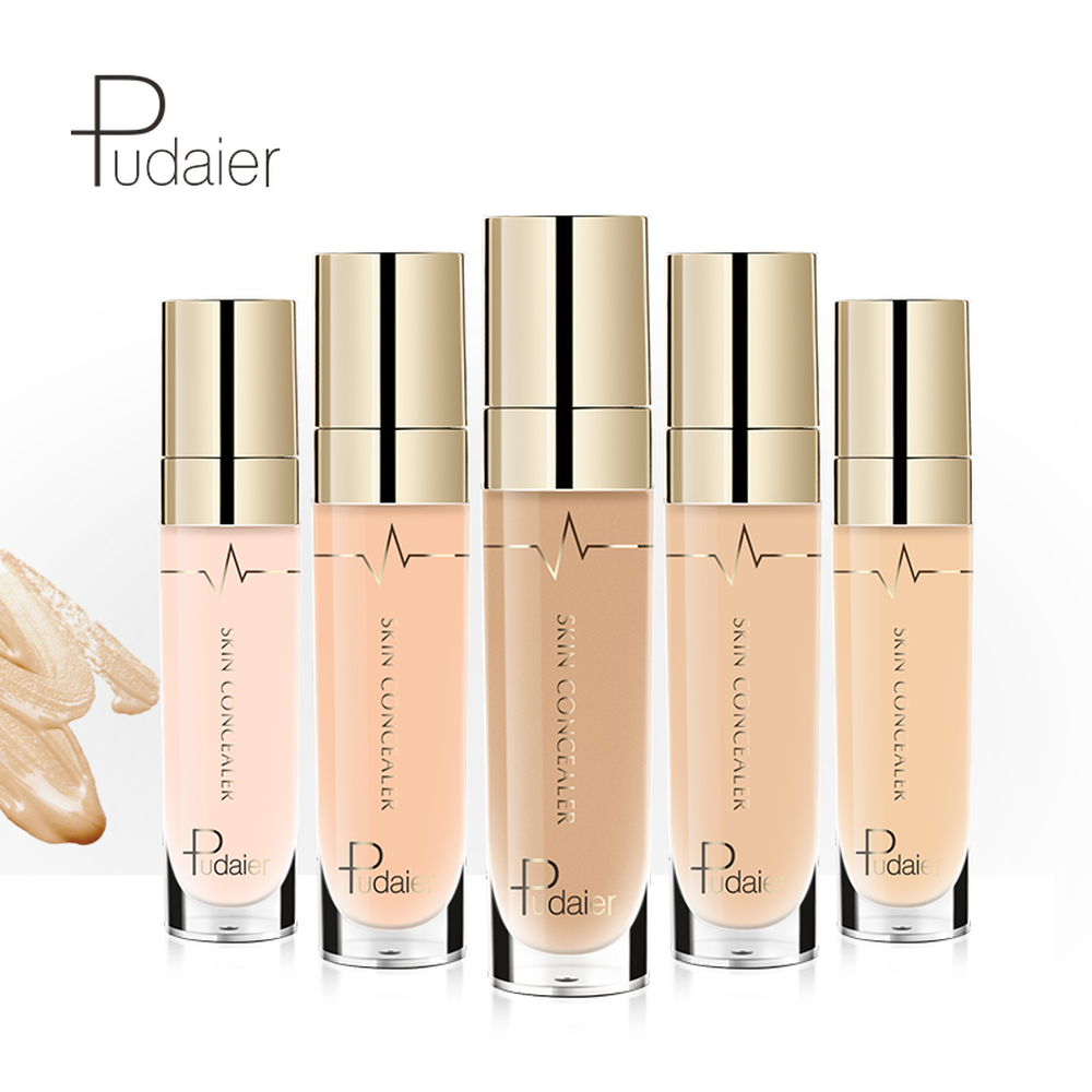 Pudaier Full Coverage Foundation Concealer Face Makeup Cosmetics Soft Brightening Liquid Base MakeUp Kits Skin Concealer Cream image