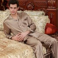 Mens Silk Satin Pajamas Set Pajama Pyjamas Set Silk Nightwear Sleepwear Loungewear L XL 2XL 3XL