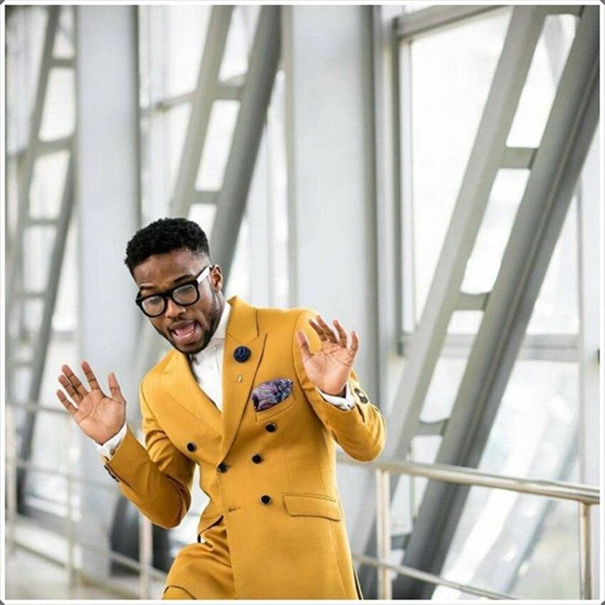 2019 Latest Coat Pant Designs Double Button Suits Elegant Formal Man Suit Jacket For Business Wedding Classic Male Tuxedos 2 Pcs