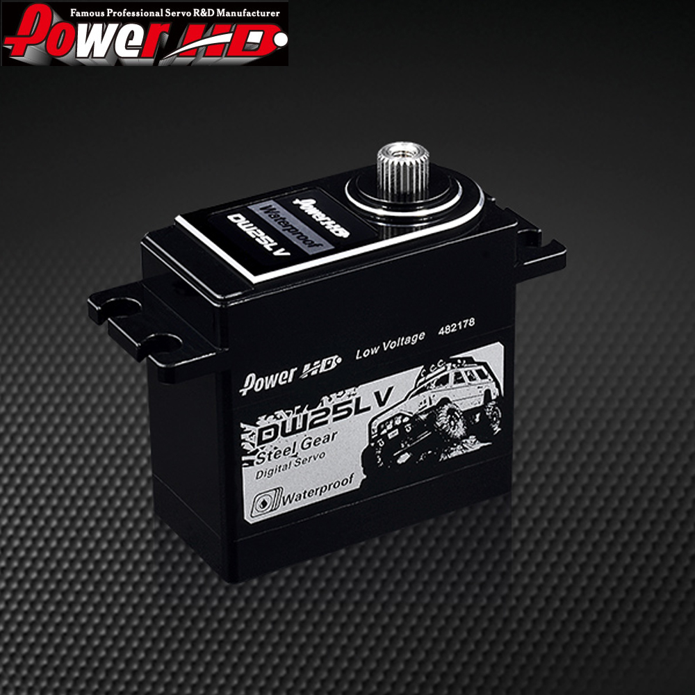 Power HD DW-25LV High Voltage 25Kg High-Speed Metal Gear Servo High Voltage Servo Waterproof for 1/10 RC Crawler Car Max 6V