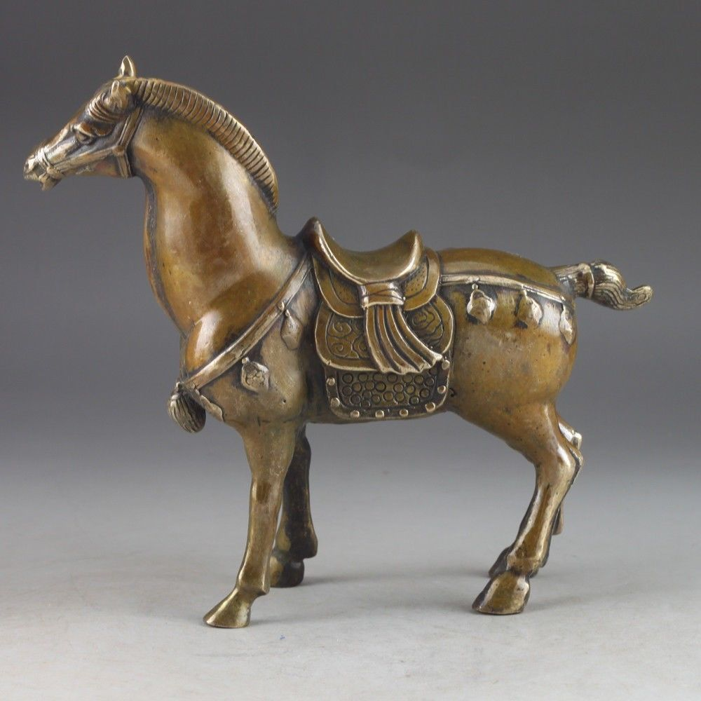Chinas seltenen kupfer alte manuelle hammer die statue von pferd In Richtung ein zeichen von erfolg