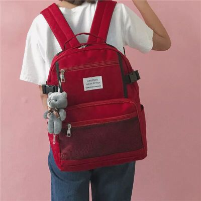 Japanese soft sister Waterproof Canvas Backpacks Schoobackpack college female Korean students Travel Backpack Bag nbxq121