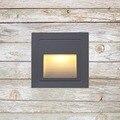 3 w Luz de escalera de led integrado con caja de aluminio luces de paso al aire libre LED lámpara de pared pie luminoso impermeable IP65 BL04