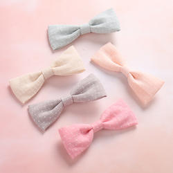 24 шт./лот милые тканевые банты Заколки для волос хлопок матерчатый бант для волос заколки детские головные уборы для девочек аксессуары для