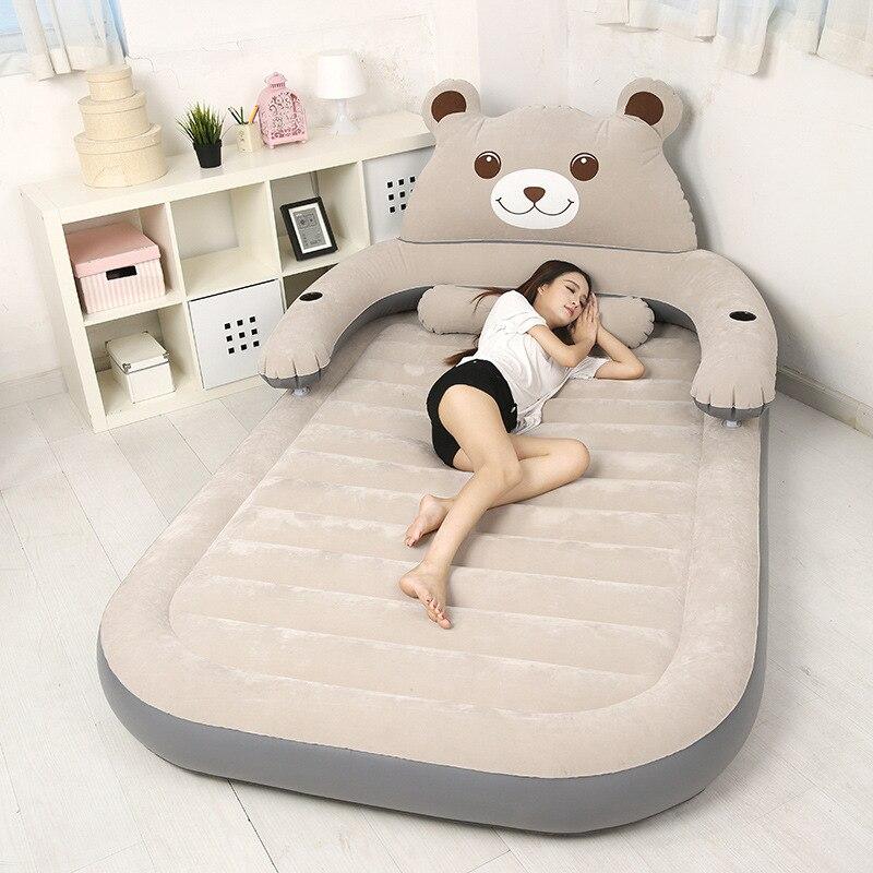 Lit gonflable Double lit d'air domestique déjeuner extérieur pause matelas d'air Portable