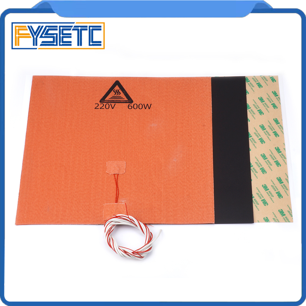 300X300mm 220V 600W Silicone Heater Pad + 0.5/0.8/1mm Frosted Black Build Surface Polyetherimid PEI For TEVO Tornado Lulzbot300X300mm 220V 600W Silicone Heater Pad + 0.5/0.8/1mm Frosted Black Build Surface Polyetherimid PEI For TEVO Tornado Lulzbot