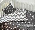 El envío libre Nuevo Llega Caliente Ins cuna sábanas 3 unids bebé juego de Cama incluye funda de almohada + hoja de cama + funda nórdica sin relleno