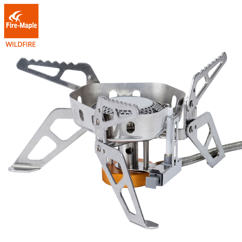 Fire Maple Wildfire Outdoor Hiking Camping Windproof Gas Burner Stove with Ignition Device Equipment 2600W Lightweight FMS-WF fire maple fms 300t mini titanium gas stove 2600w