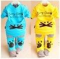 В продаже детская одежда установить 100% хлопок характер о-образным вырезом полный рукавами мальчиков устанавливает для 1 - 3 лет A141