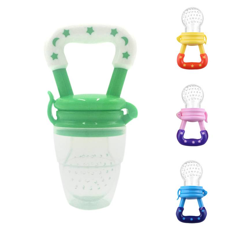 Baby Silcone Pacifier Fresh Food Feeder Feeding Nipple Dummy Fruits Nibbler Soother Bottle Clip Chain ...