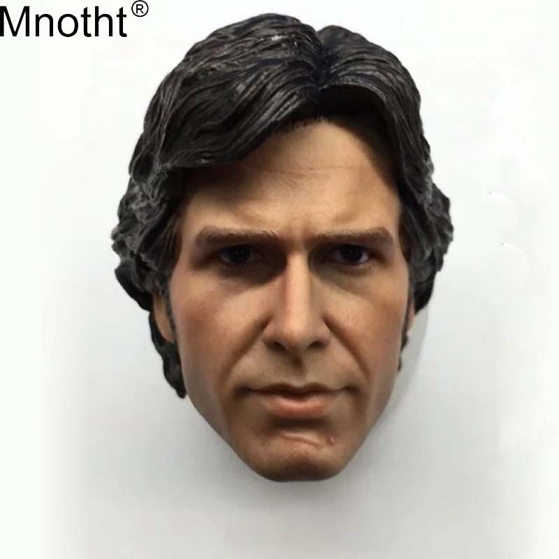 Mnotht 1/6 Han Solo Head Carvings Model Series Harrison Ford Soldier Toy for 12in Action Figure Young Edition ma