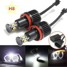 2 шт. 120 Вт H8 LED Ангел глаз Halo Кольцо лампа Ксеноновые Белый 6000 К фар для BMW E82 e90 E92 E60 E61 E63 E89 X6