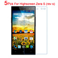 5PCS Glossy Matte Nano anti-Explosion Screen Protector Film For Highscreen ZERA S(rev S) High Clear Protective Film With Cloth