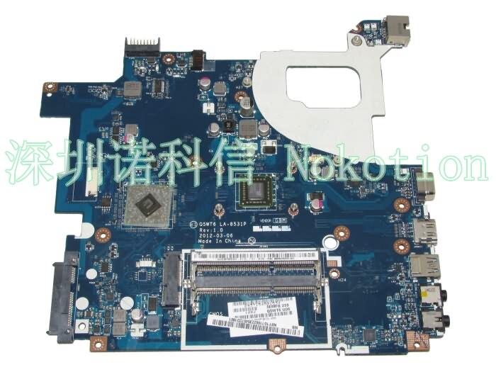 Laptop Motherboard For Acer Packard Bell E1-521 TE11BZ NBY1G11001 Q5WT6 LA-8531P Main board ddr3 логан blu ray