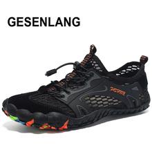 Mens Big Size Five Finger Hiking Shoes Summer Breathable Soft Light Male Sneakers Non-Skid Tourism Walking Outdoor Sports