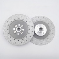 DIATOOL 2pcs 5 inch Double Sided Vacuum Brazed Diamond Cutting and Grinding Disc With 5/8 11 Flange Premium Quality