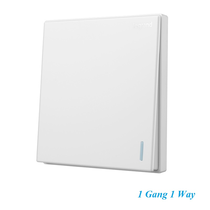 High Quality Simple Classic Elegant Magnolia White Large Panel Wall Switch With Fluorescence 1 Gang 1 Way Single Control Switch fluorescence yellow high visibility