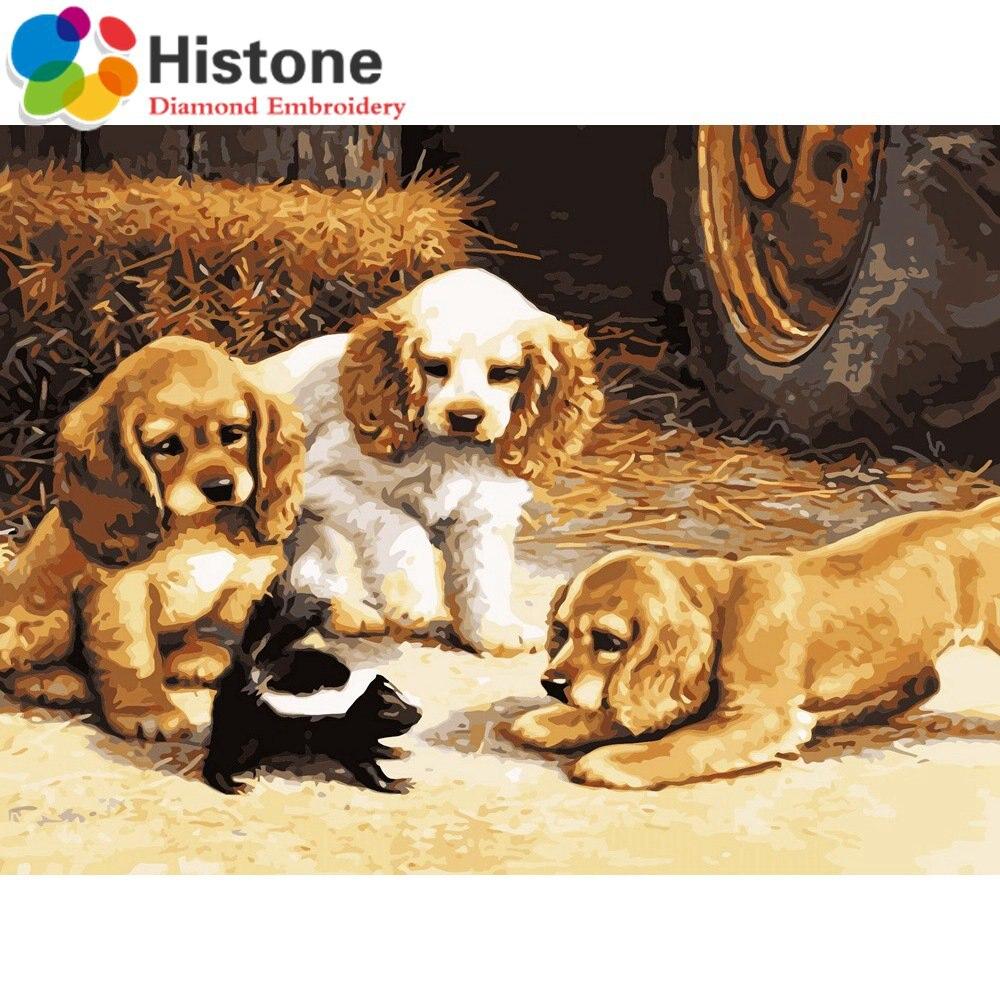 Diamond Вышивка, Животные собака, 5D, Алмазный живопись, вышивка крестом, 3D, Алмазная мозаика, украшения, рождественские подарки 9841