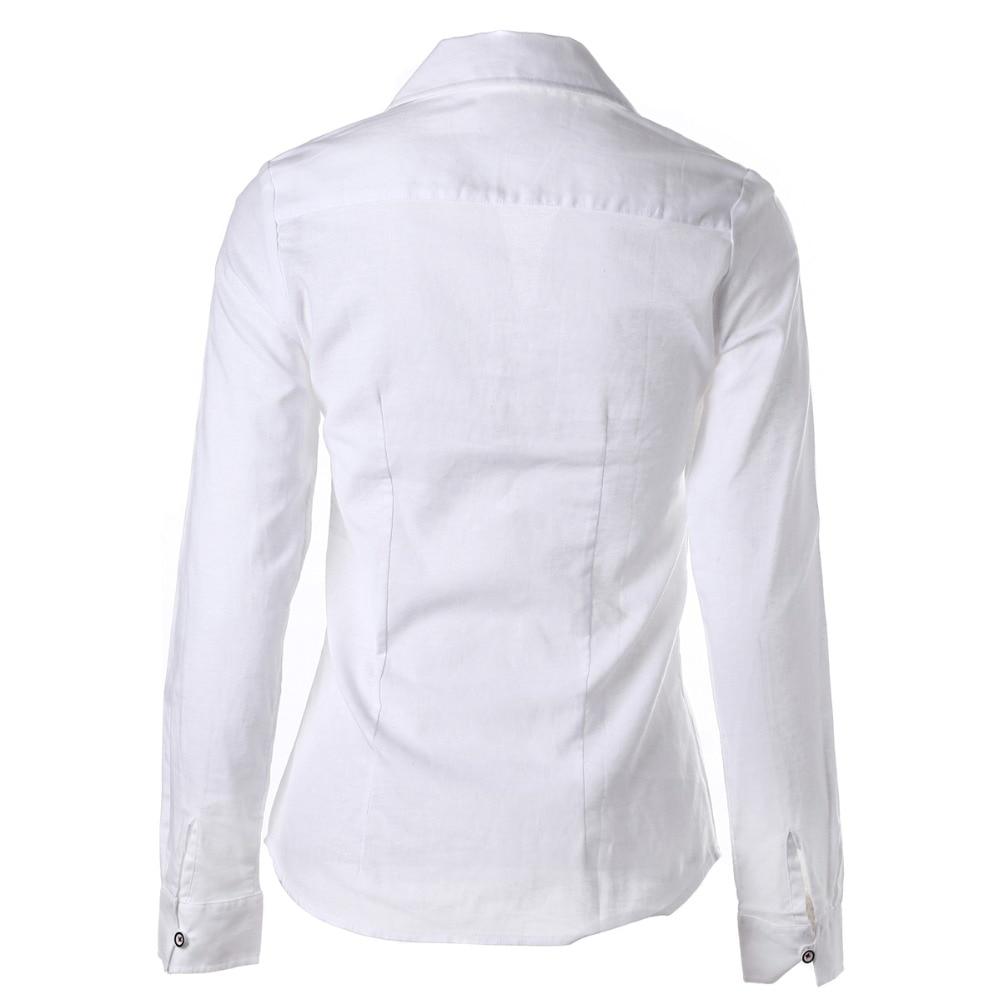 Plus Size Frauen Blusen Phenix Langarm Shirt Frauen Solide Baumwolle - Damenbekleidung - Foto 3