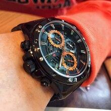 מקורי NAVIFORCE משולב קוורץ שעוני יד גברים ספורט שעונים עמיד למים מלא פלדה עסקי שעון Relogio Masculino