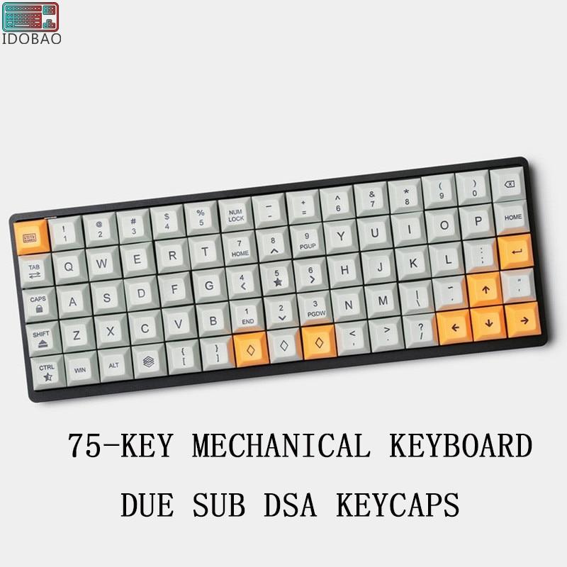 PBT Due Sub 75-KEY ALUMINUM MECHANICAL Mini KEYBOARD DSA Keycaps Pc Gamer Logitech Gaming Mouse Art Gh60 Xd60 Tada68 Teclado
