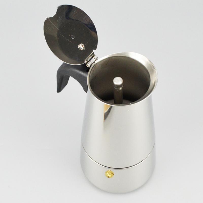 100ml Stainless Steel Moka Coffee Maker Mocha Espresso Latte ...