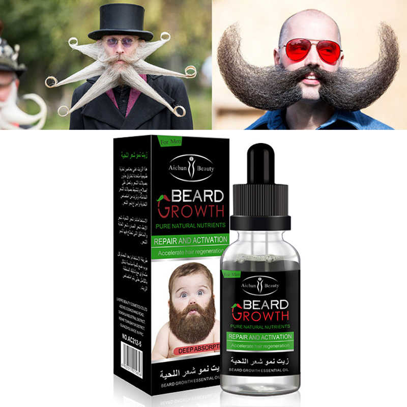 1 adet Doğal Sağlıklı erkek Sakal Vücut Saç Büyüme Çözümü Nazik Bakım Saç Büyüme Yağı Sıvı sakal uzatma Özü TSLM2