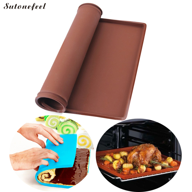 Silicone Baking Mat Multifunction Cake Pad Silicone Oven Mat Swiss Rolling Mat Oven liner Silicone Baking Tools Гриль
