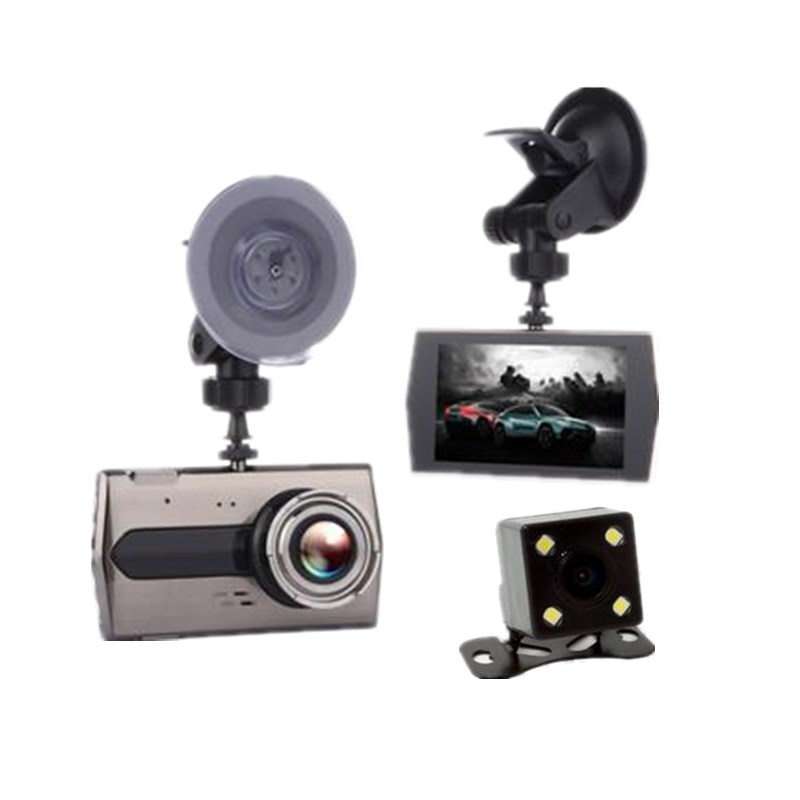 1080p 4 inch HD display wide angle Night Vision cycle video motion detection Dash Cam Digital Recorder Camcorder DVR rearview