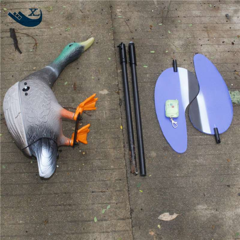 Xilei  Wholesale Italy Hunting Duck Decoy Mallard 6V Plastic Motor Male Duck Motorized Duck Decoy With Magnet Spinning Wings 2017 xilei wholesale outdoor russian high quality hunting duck decoy mojo duck free duck hunt with magnet spinning wings