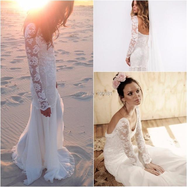 f6608713329 bridal bouquet plus size traje de gala Vintage Boho Beach Wedding Dresses  Gowns Chiffon Dreamy Slit Short Cheap Dresses CYAW-057