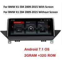 10.25 2GRAM+32GROM Android 7.1 System Car Stereo Player For BMW X1 E84 2009 2015 GPS Radio Recorder WIFI BT USB Google OBD DVR