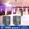 2 piezas Sparklers remoto máquina de chispa fría para boda Dmx pirotecnia efecto fuegos artificiales fuente 400 W pirotecnia profesional