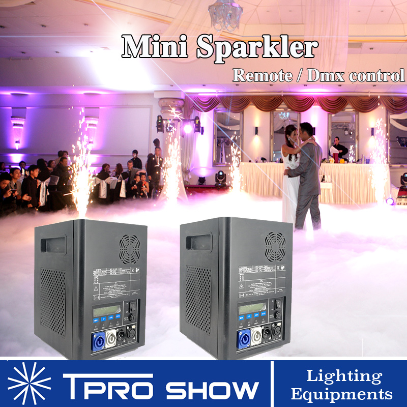 2pcs Sparklers Remote Cold Spark Machine for Wedding Dmx Pyrotechnics Effect Fireworks Fountain 400W Professional Pyrotechnics